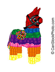 Mexican Party Pinata - Raster version Illustration of a...