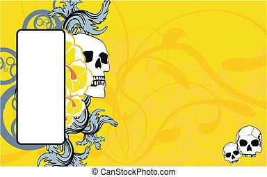 tropical skull copyspace wallpaper2