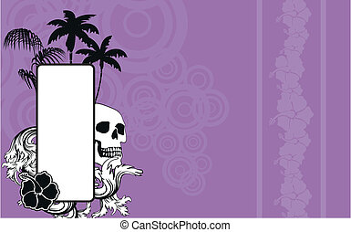 tropical skull copyspace wallpaper1