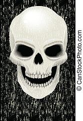 Human skull zombie