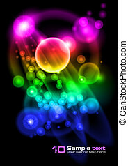 Vector abstract design Bubbles - Abstract vector glowing...