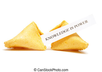 Fortune Cookie of Knowledge - A cracked open fortune cookie...