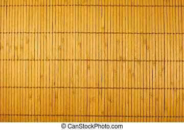 Structure of a bamboo napkin - Traditional yellow bamboo pad...