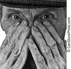 the old man and his hands - hands and eyes of the old man