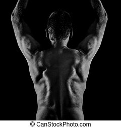 middle age man back side - An image of a middle age man back...