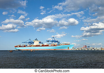 Container Ship is one of the largest container ships in the...