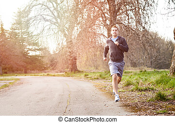 Mixed race man running - A shot of a mixed race man running...