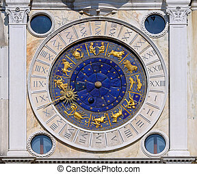 San Marco astrology clock - Zodiac clock at San Marco square...