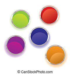 Paint pots - Abstract brightly coloured paint pots...