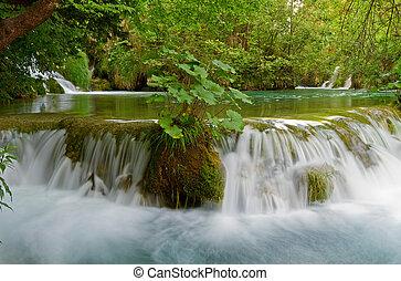 Idyllic waterfall.