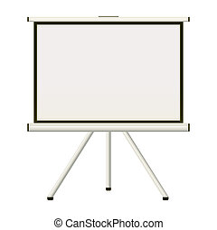 Projection screen - Blank white modern blank projector...