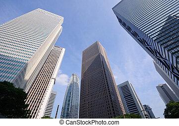 Tokyo, Japan - Skyscrapers at Nishi-Shinjuku in Tokyo,...