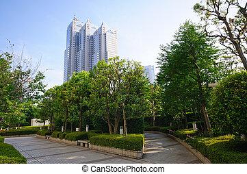 Tokyo, Japan - Shinjuku Park Tower in Tokyo, Japan. Taken in...