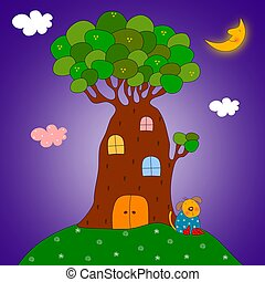 Tree-house - Illustration for children