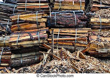 from sawmill waste beech wood