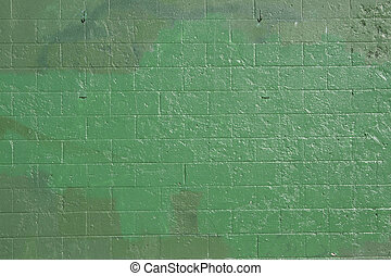 Green brick wall - green brick wall that has been covered up...