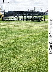 Bleachers and grass