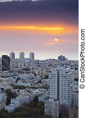 Cityscape -  Tel Aviv at sunset, Israel