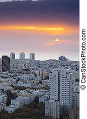 Cityscape -  Tel Aviv at sunset, Israel