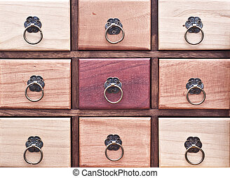 Wooden pigeonhole - Natural colored wooden pigeonhole