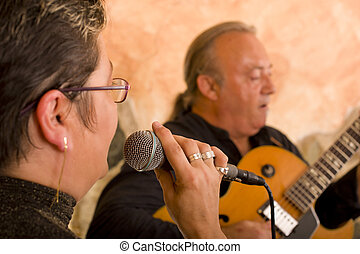 Jazz performance - Jazz musicians performing live on the...