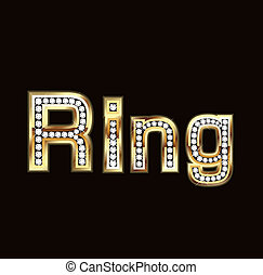 Ring word in bling