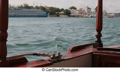 bay of Sevastopol - view from the pleasure boat on the bay...