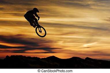 Bikejump at sundown
