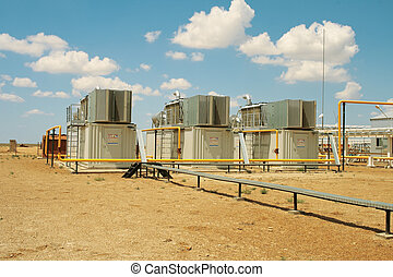 Gas compressors. - Gas compressor packages, heat sinks on...