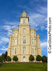 LDS Manti Temple - Manti Utah Temple of The Church of Jesus...