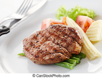 tenderloin - delicious tenderloin steak, shallow depth of...