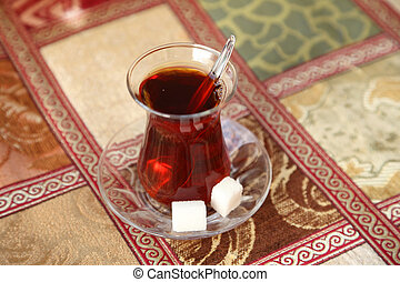Black turkish tea as served in Istanbul