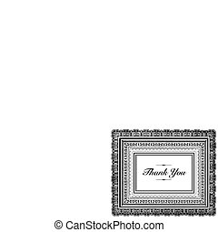 Vector Layered Thank You Frame