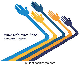 Hands reaching out design. - Hands reaching out design...