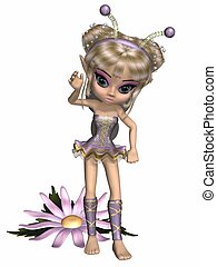 Toon Fanasy Nymph - 3d render of a toon fanasy nymph