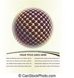 Positive digital arrow globe design