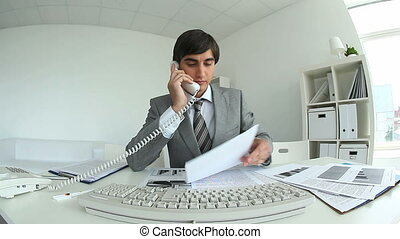 Handsome manager - Video of handsome manager working in...