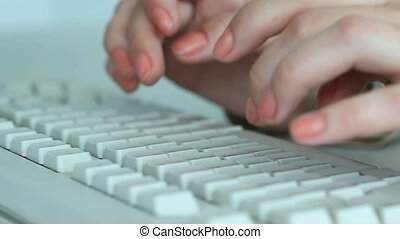 Typing hands - Video of hands typing on keyboard