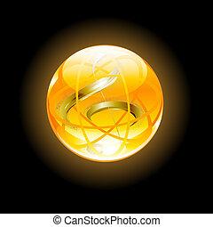 musical glass button