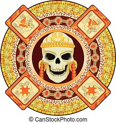 god of death of Aztecs - Skull the god of death of Aztecs...