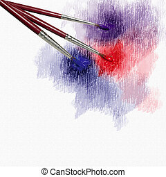 Grunge background with brush for advertising and...
