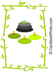 Green Spa concept - Spa concept vector illustration. Bamboo...