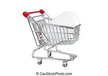 mouse in a shopping trolley