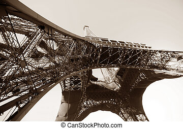 Eiffel Tower - Abstract view of the Eiffel Tower in Paris....