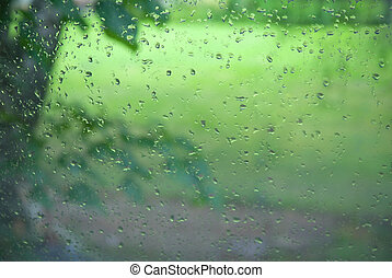 droplets on window by summer