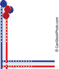 intertwined border with balloons