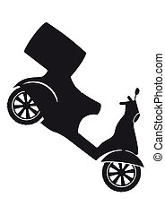 Scooter silhouette - Fast Delivery Service Symbol