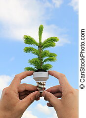 Eco energy concept - Ecological concept symbolizing the...