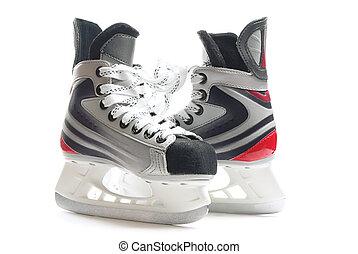 Hockey skates - Children hockey skates isolated over pure...