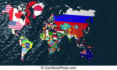 3D Flag World with Zoom to India - 3D Flag World with a Slow...